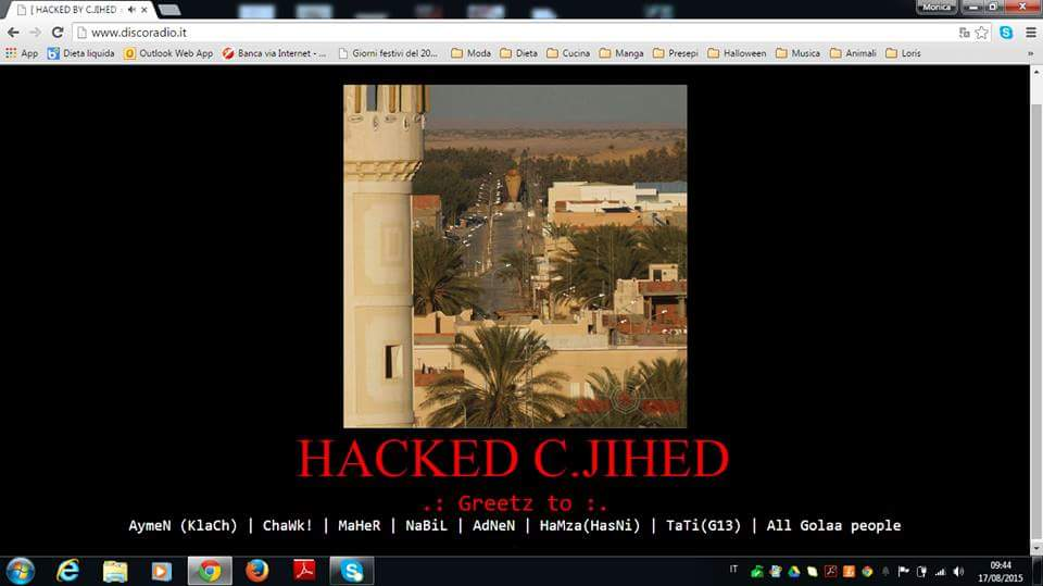 discoradio hackerato
